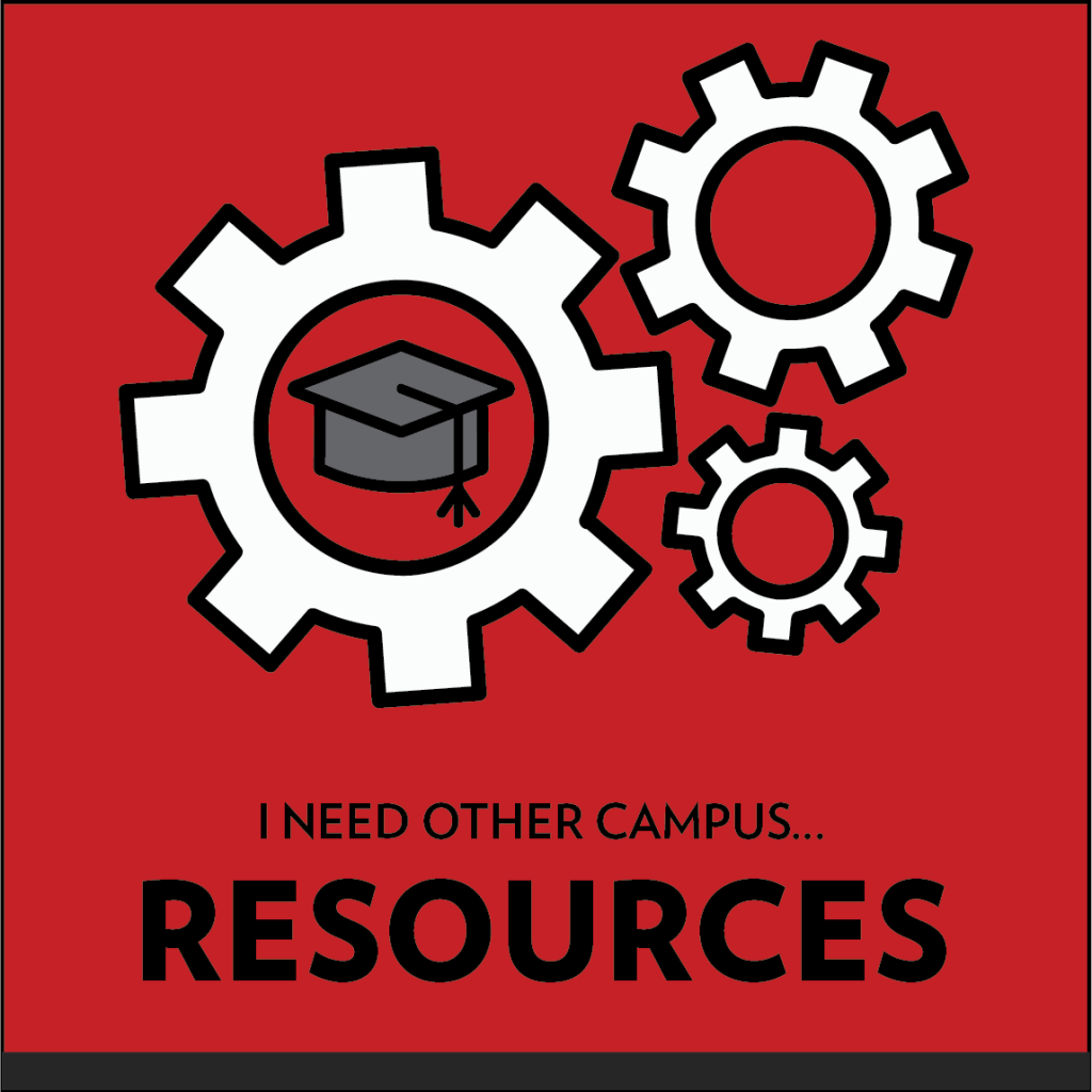 Resources- Gear hub centered around graduation cap
