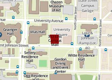 Map of 333 East Campus Mall area
